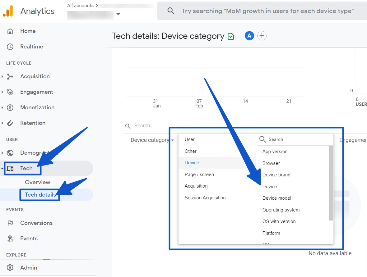 Device category in Google Analytics